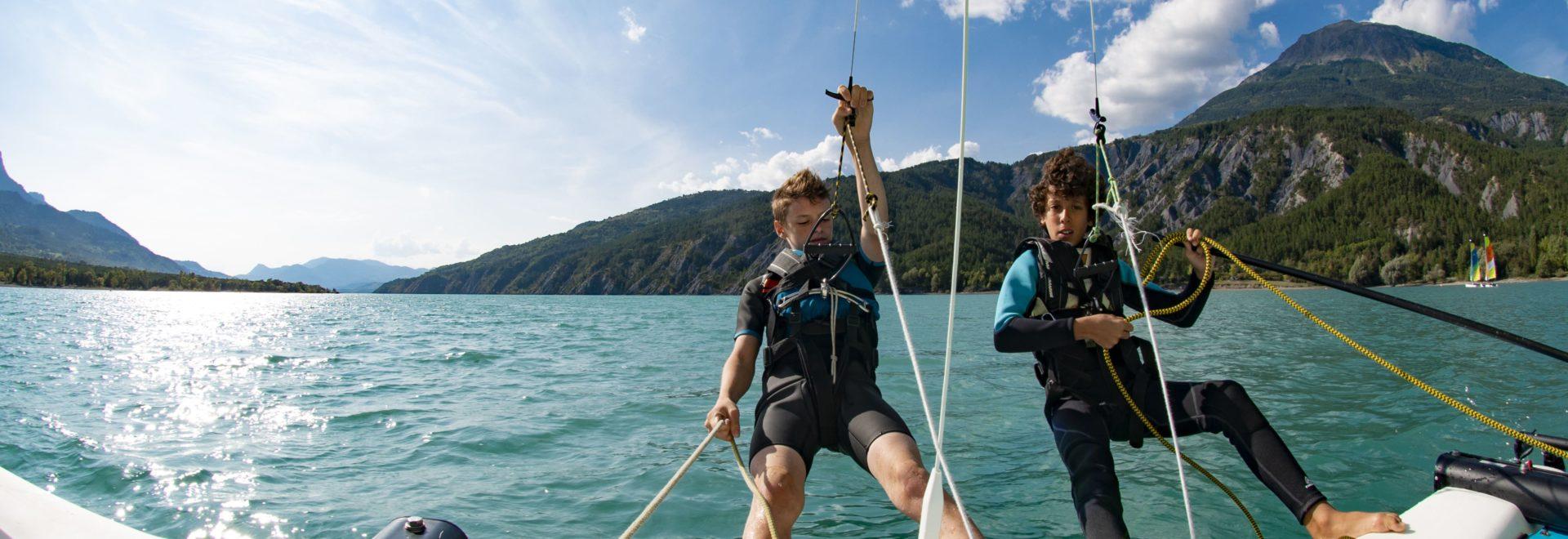 Sport de glisse, La voile sur lac de Serre-Ponçon