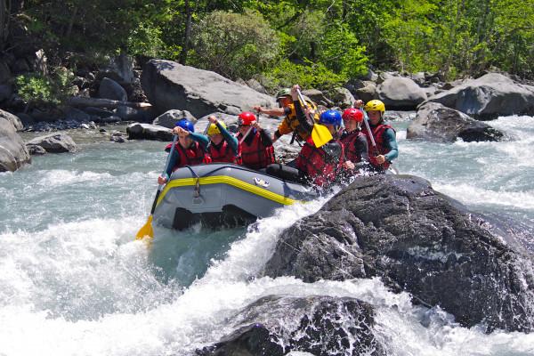 Rafting descent on the Ubaye river