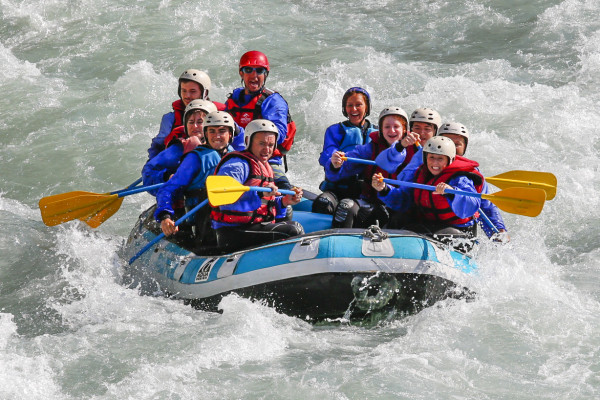 Moyenne descente de la Durance en rafting