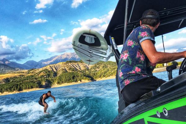Wakesurf - Surf foil - Plage de la Baie Saint Michel