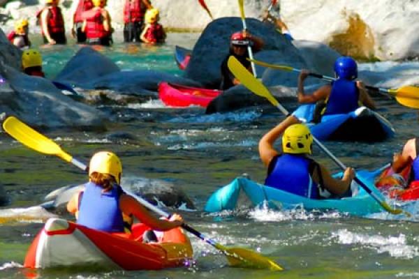 Cano-raft on Ubaye river